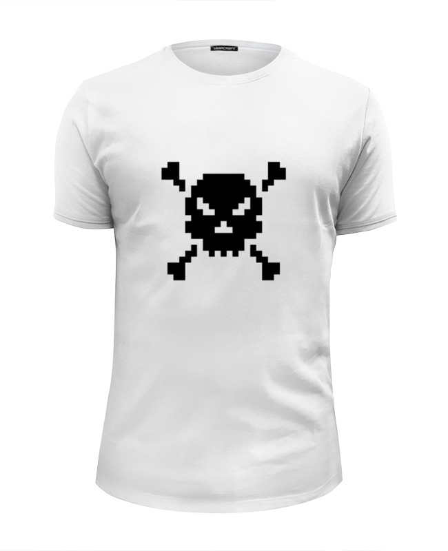 Футболка Wearcraft Premium Slim Fit Printio Pixel art skull футболка wearcraft premium printio super pixel