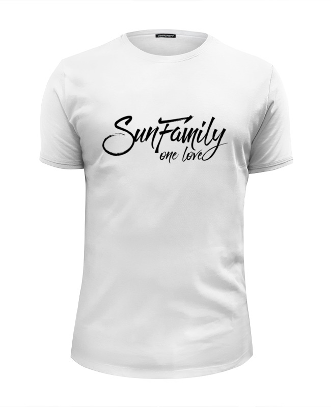 купить Футболка Wearcraft Premium Slim Fit Printio Футболка sunfamily one love - white онлайн