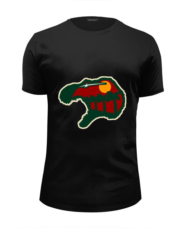 Футболка Wearcraft Premium Slim Fit Printio Голова динозавра (парк юрского периода) футболка wearcraft premium printio голова кролика