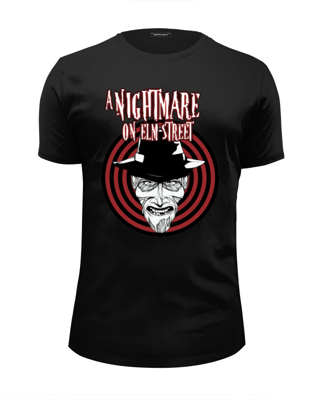 Футболка Wearcraft Premium Slim Fit Printio Freddy krueger global discontents
