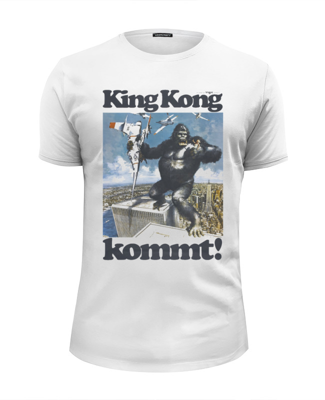 Футболка Wearcraft Premium Slim Fit Printio King kong футболка wearcraft premium printio афиша к фильму пышка 1935 г