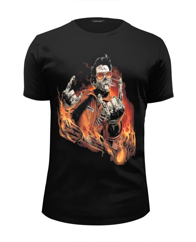 Футболка Wearcraft Premium Slim Fit Printio Зомби рок-гитарист футболка wearcraft premium printio панк рок кафе