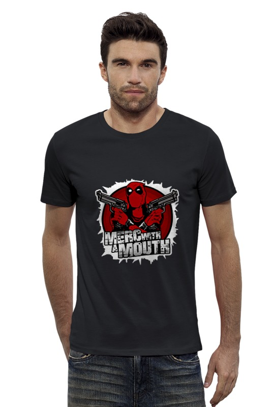 Футболка Wearcraft Premium Slim Fit Printio Deadpool футболка wearcraft premium slim fit printio шахматиста