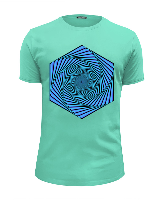 Футболка Wearcraft Premium Slim Fit Printio Синяя иллюзия движения