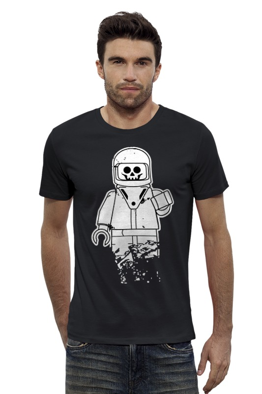 Футболка Wearcraft Premium Slim Fit Printio Лего космонавт футболка wearcraft premium slim fit printio космонавт
