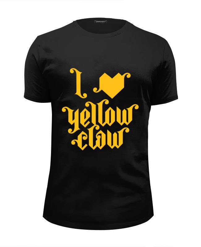 Футболка Wearcraft Premium Slim Fit Printio I love yellow clow недорго, оригинальная цена