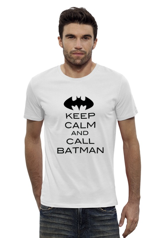 Футболка Wearcraft Premium Slim Fit Printio Keep calm and call batman футболка wearcraft premium printio keep calm and mid or feed