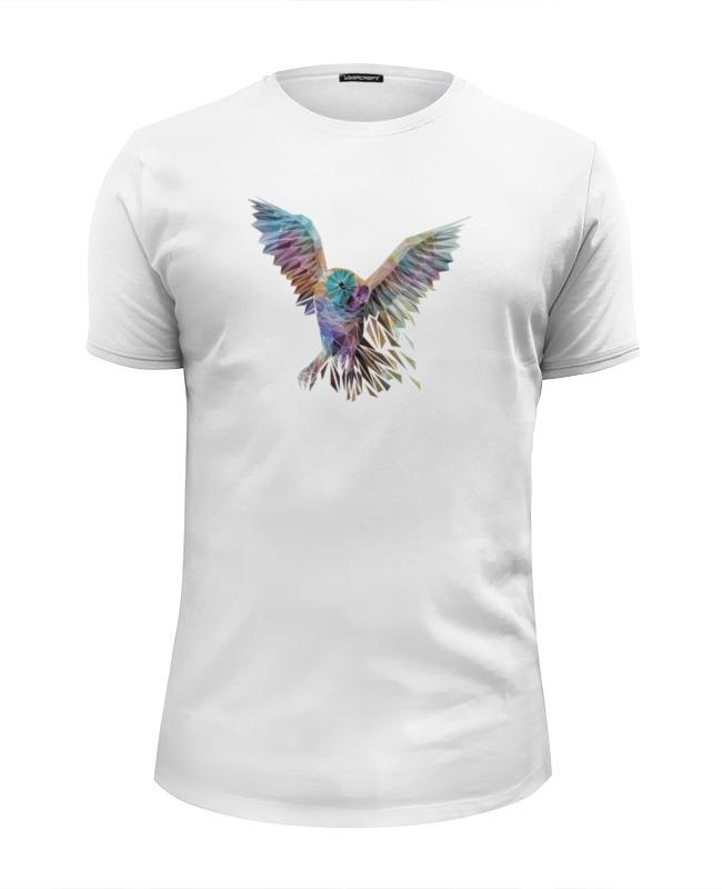 Футболка Wearcraft Premium Slim Fit Printio Геометрическая сова футболка wearcraft premium printio геометрическая лиса