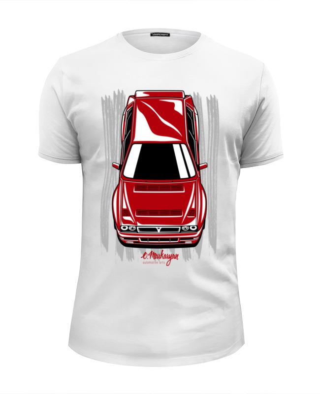 Футболка Wearcraft Premium Slim Fit Printio Lancia delta цены