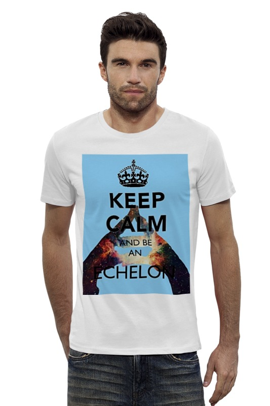 Футболка Wearcraft Premium Slim Fit Printio Keep calm and be an echelon футболка wearcraft premium printio keep calm and be cooler