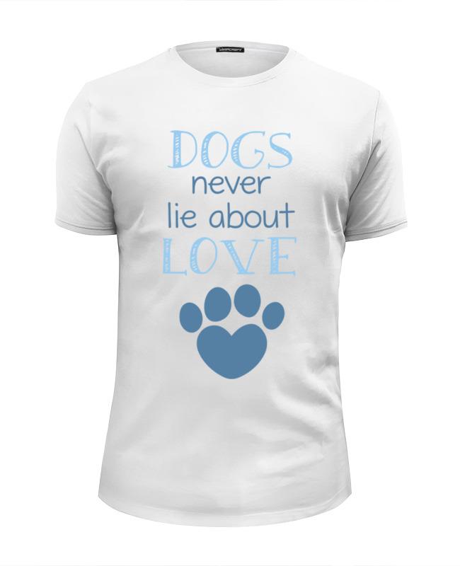 Футболка Wearcraft Premium Slim Fit Printio Собаки любят футболка wearcraft premium slim fit printio весы врут