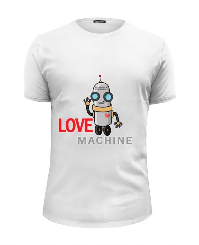 Футболка Wearcraft Premium Slim Fit Printio Love machine cnc engraving machine 3040t dj cnc milling drilling carving machine cnc 3040 with wireless handwheel ship to russia no tax