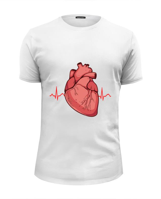 Футболка Wearcraft Premium Slim Fit Printio Сердце футболка wearcraft premium slim fit printio обнимая твое сердце