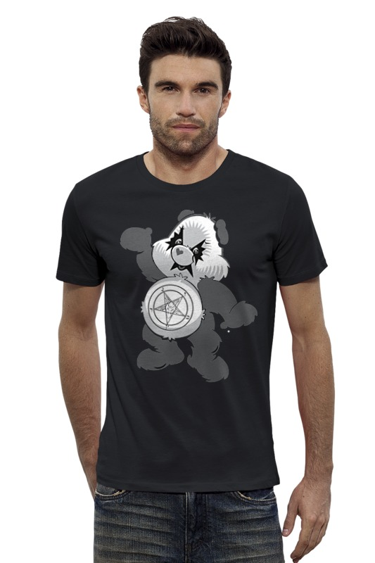 Футболка Wearcraft Premium Slim Fit Printio Мишка kiss футболка wearcraft premium slim fit printio мишка me to you