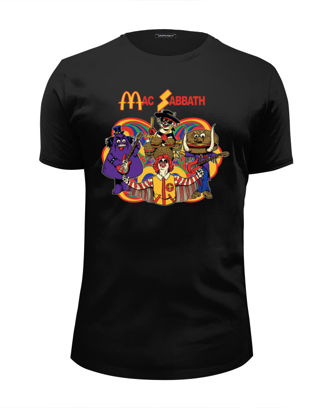 Футболка Wearcraft Premium Slim Fit Printio Mac sabbath/black sabbath цена