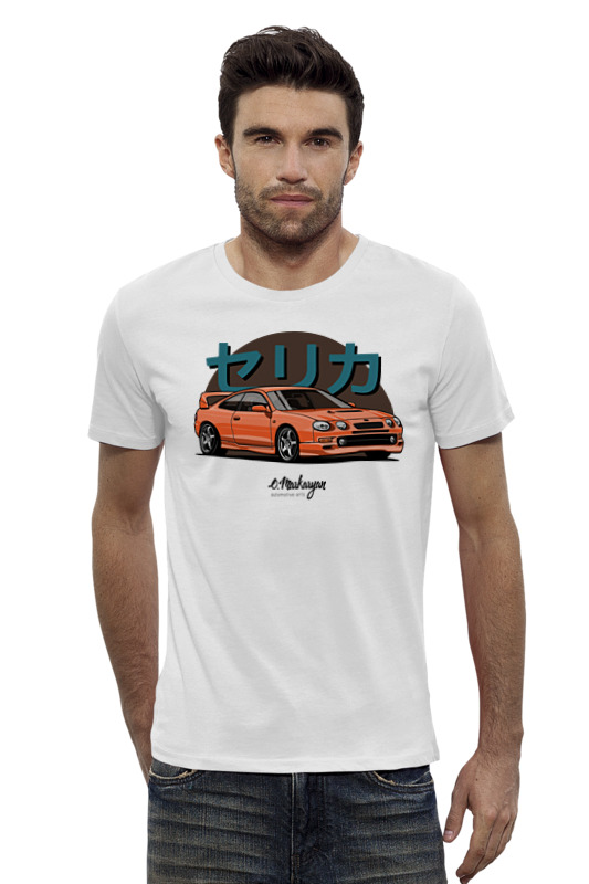 Футболка Wearcraft Premium Slim Fit Printio Toyota celica gt-four свитшот quiksilver quiksilver qu192ebpew61