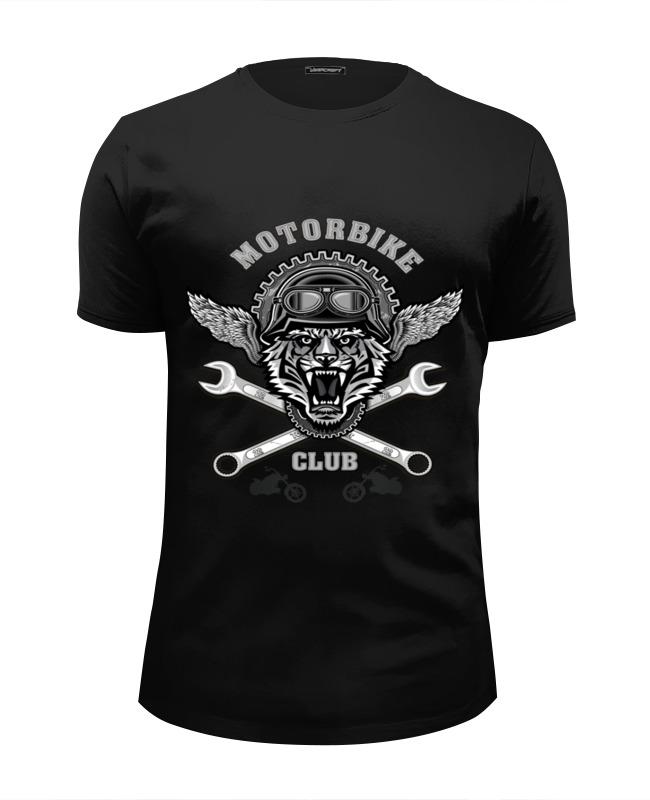 Футболка Wearcraft Premium Slim Fit Printio Байкер футболка для байкера