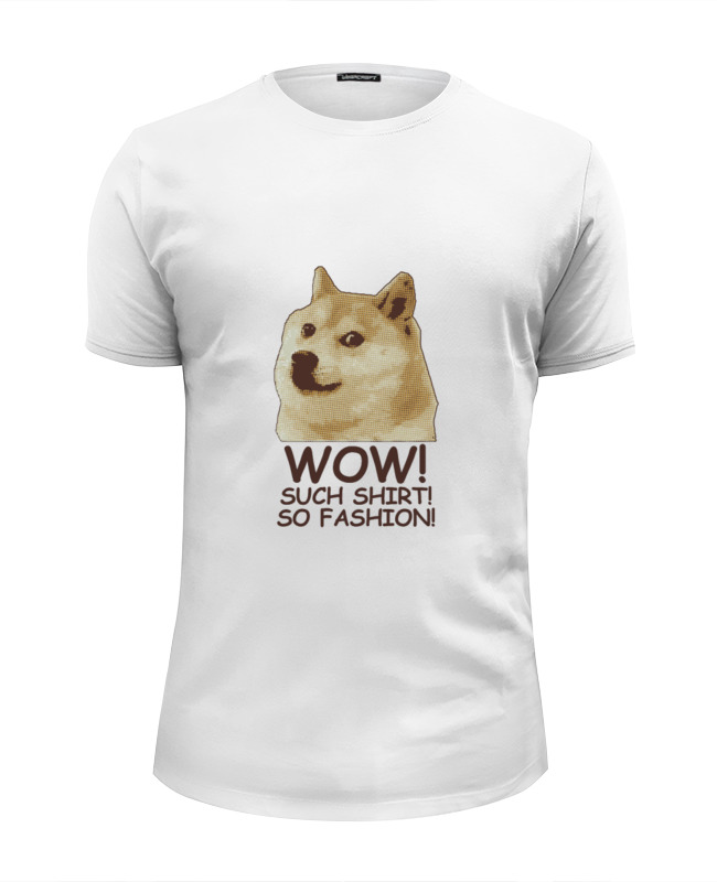 Футболка Wearcraft Premium Slim Fit Printio Doge wow such shirt so fashion icebear 2017 o neck collar autumn new arrival brand trench coat for women solid color woman fashion slim fashion coats 17g123d