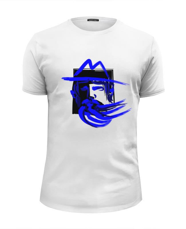 где купить Футболка Wearcraft Premium Slim Fit Printio Blue beard, синяя борода по лучшей цене
