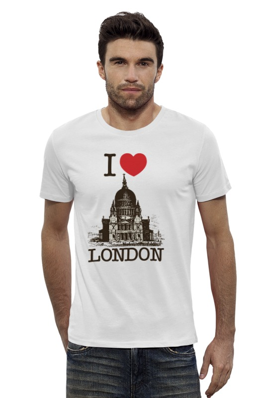 Футболка Wearcraft Premium Slim Fit Printio I love london