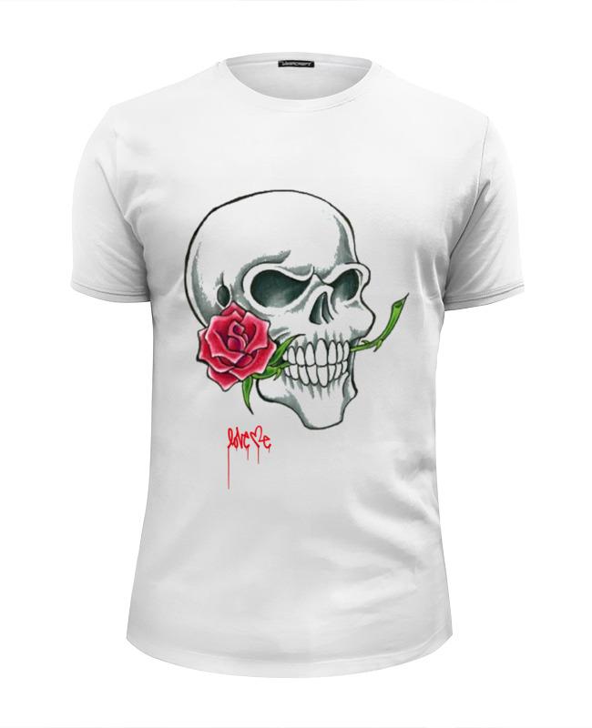 Футболка Wearcraft Premium Slim Fit Printio Skull #3 tom-s_design цена