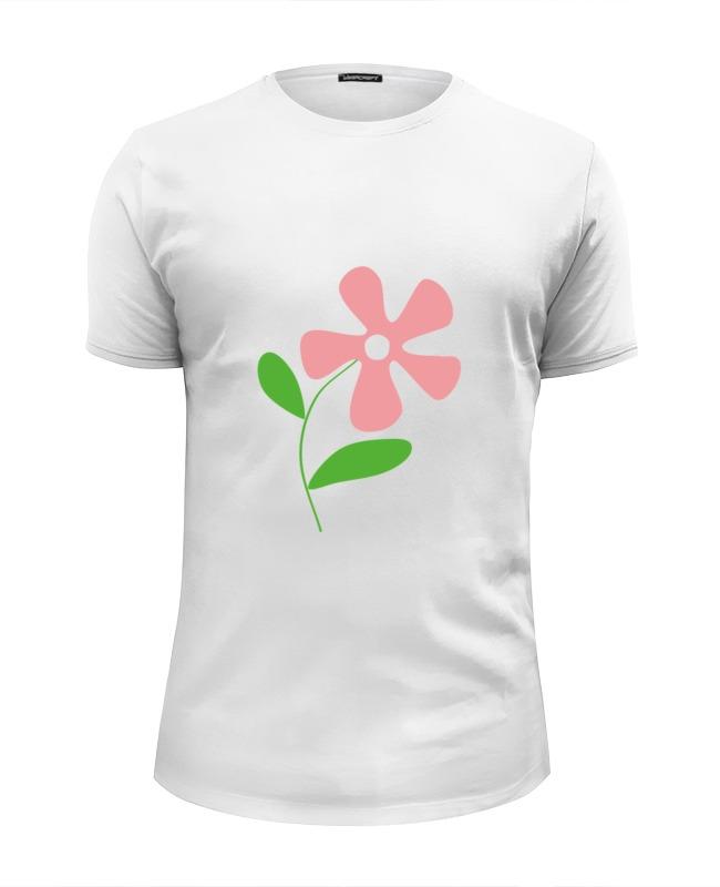 Футболка Wearcraft Premium Slim Fit Printio Розовый цветок футболка wearcraft premium slim fit printio черный цветок