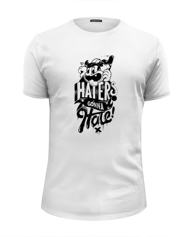 Футболка Wearcraft Premium Slim Fit Printio Hatters gonna hate