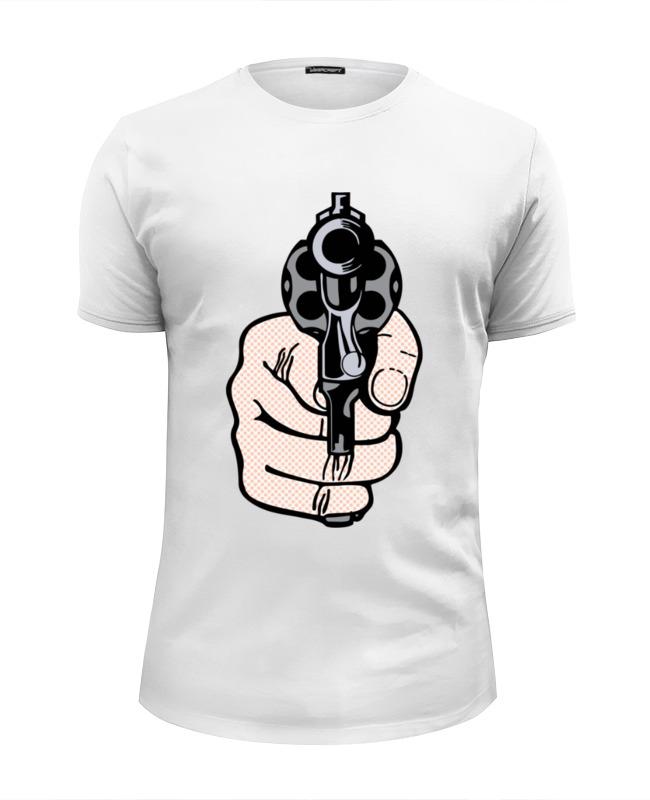 Футболка Wearcraft Premium Slim Fit Printio Рука с пистолетом футболка wearcraft premium slim fit printio рука пистолет bang