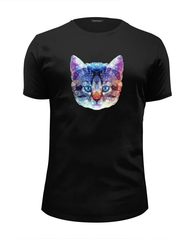 Футболка Wearcraft Premium Slim Fit Printio Абстрактный кот футболка wearcraft premium slim fit printio усатый кот