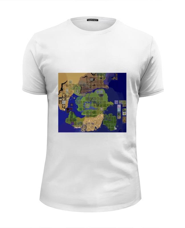 Футболка Wearcraft Premium Slim Fit Printio Карта мира ragnarok online пазл магнитный 27 4 x 30 4 210 элементов printio карта мира ragnarok online