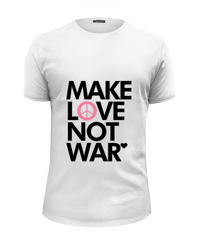 Футболка Wearcraft Premium Slim Fit Printio Make love not war