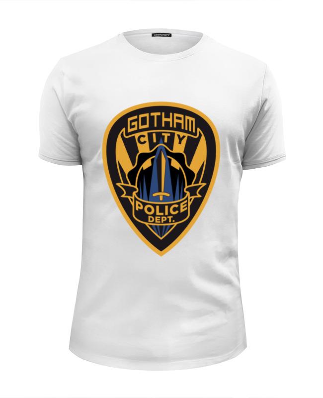 Футболка Wearcraft Premium Slim Fit Printio Полиция готэма (бэтмен) футболка рингер printio полиция готэма бэтмен