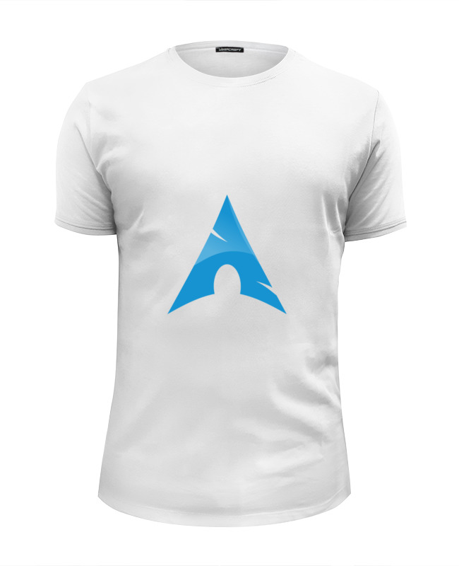 Футболка Wearcraft Premium Slim Fit Printio Фанат arch linux майка классическая printio фанат arch linux