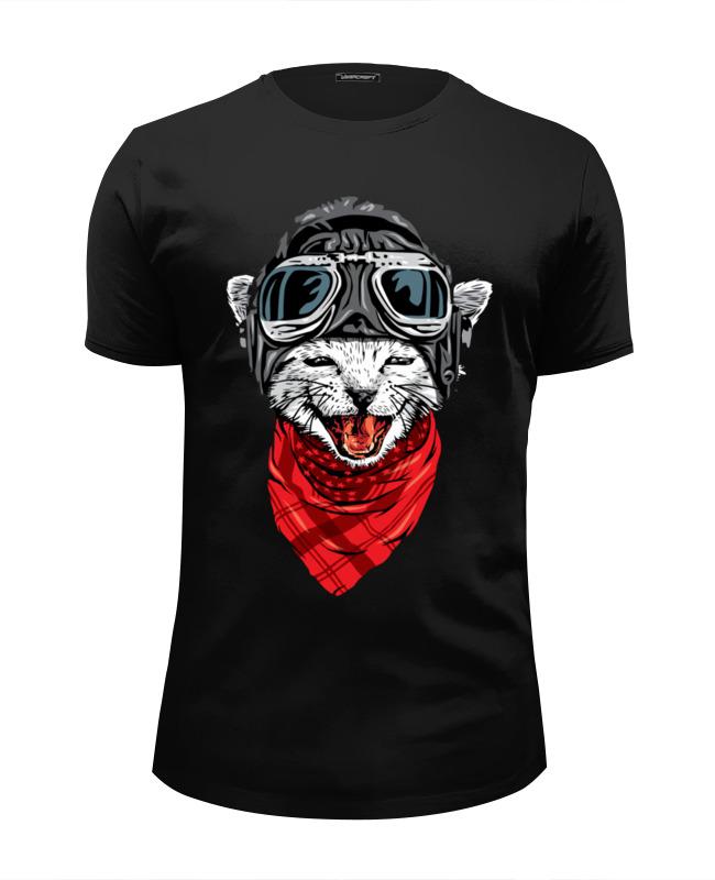 Футболка Wearcraft Premium Slim Fit Printio Боевой кот футболка wearcraft premium slim fit printio кот суши