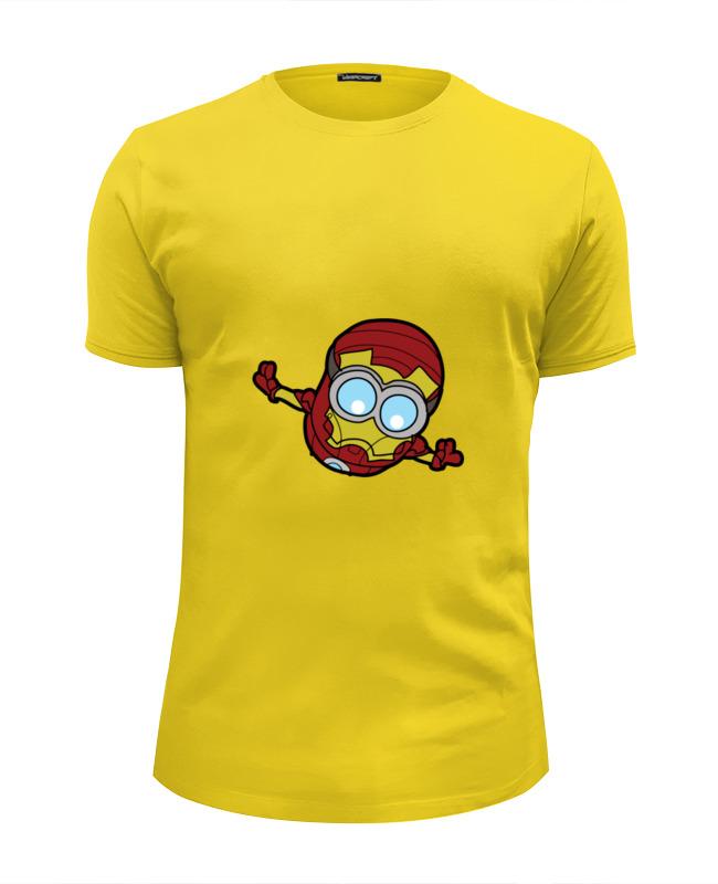 Футболка Wearcraft Premium Slim Fit Printio Миньон (железный человек) футболка wearcraft premium slim fit printio миньон