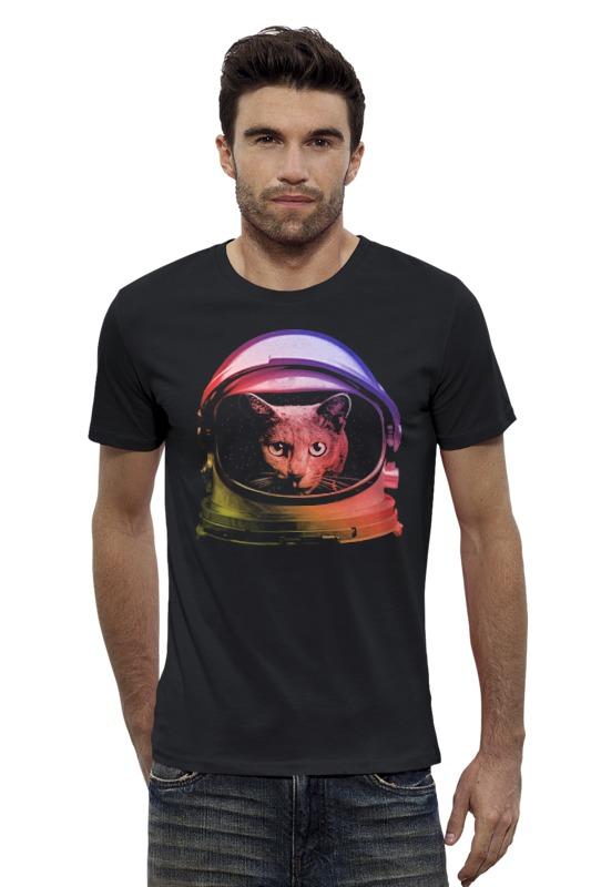 Футболка Wearcraft Premium Slim Fit Printio Кот космонавт футболка wearcraft premium slim fit printio космонавт