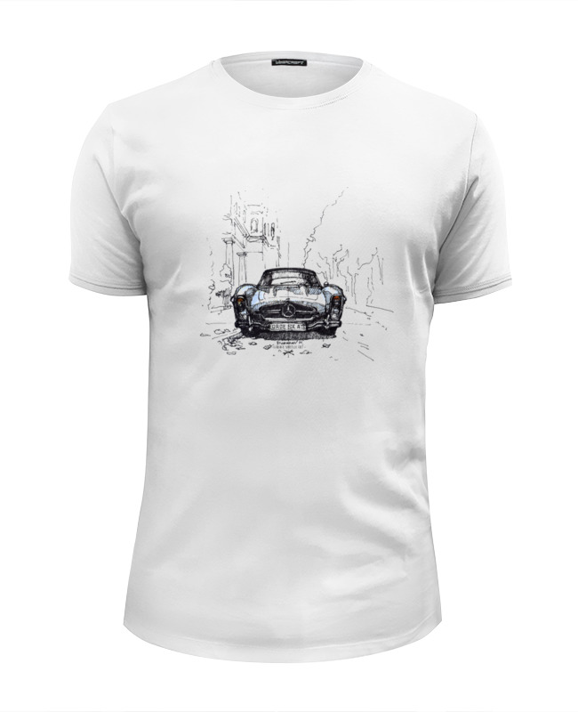 Футболка Wearcraft Premium Slim Fit Printio Mercedes-benz 300sl лонгслив printio mercedes benz 300sl