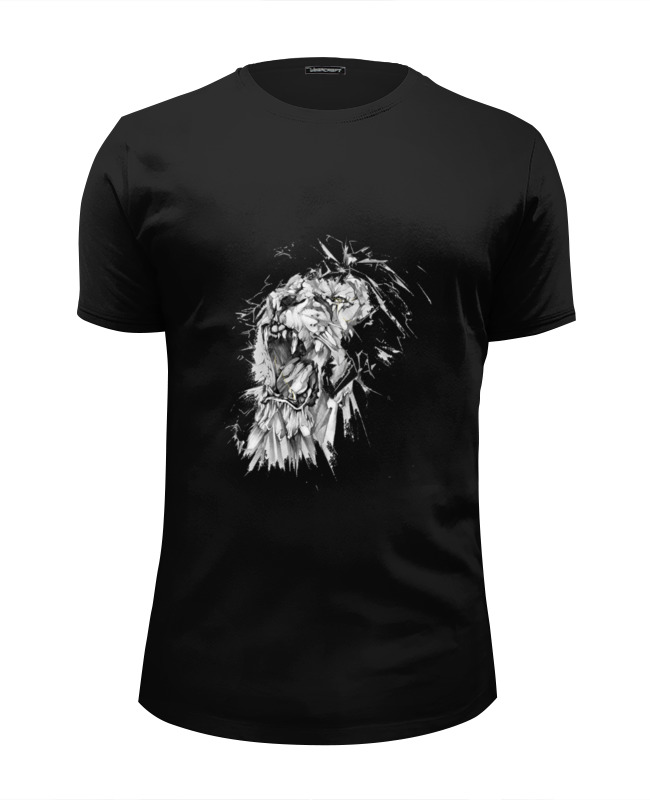 Футболка Wearcraft Premium Slim Fit Printio Growl lion худи print bar skull lion