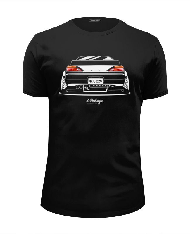 Футболка Wearcraft Premium Slim Fit Printio Nissan silvia