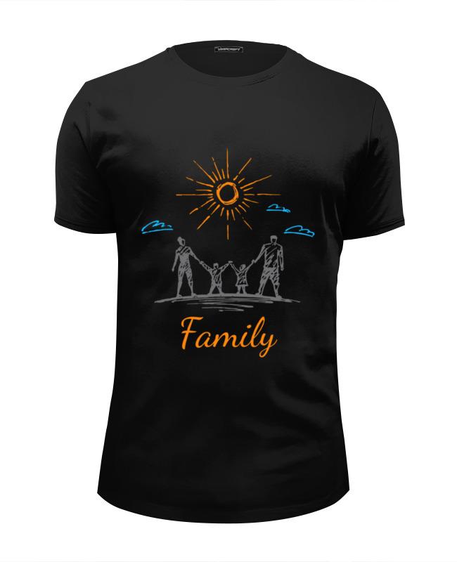 Футболка Wearcraft Premium Slim Fit Printio Моя семья нектар моя семья апельсин 1 0л тетра брик