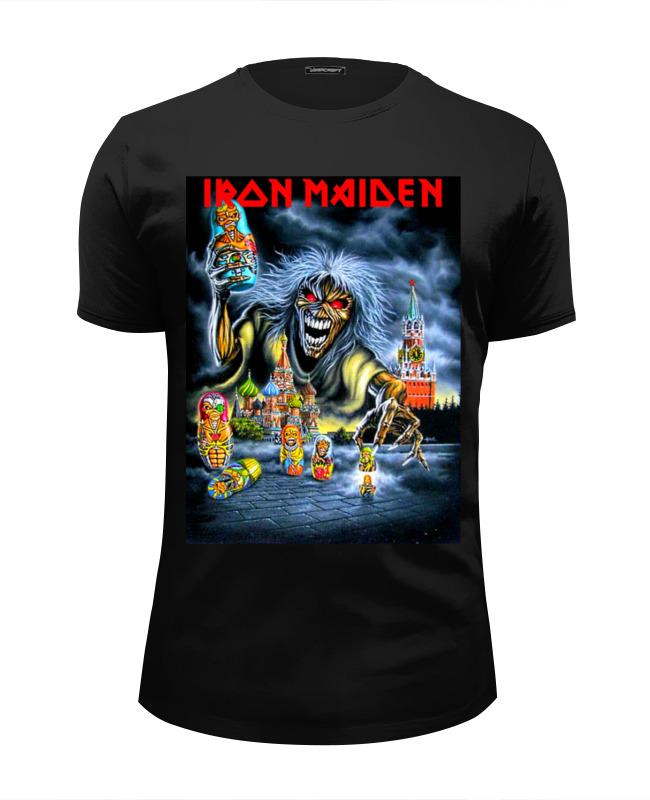 Футболка Wearcraft Premium Slim Fit Printio Iron maiden band cd iron maiden a matter of life and death