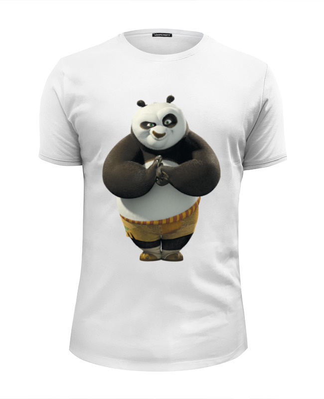 Футболка Wearcraft Premium Slim Fit Printio Kung fu panda the animals of kung fu panda starter level cd