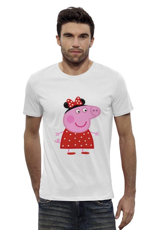 Футболка Wearcraft Premium Slim Fit Printio Peppa pig раскраски свинка пеппа peppa pig с наклейками синяя