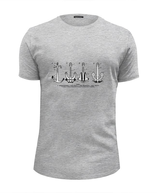 Футболка Wearcraft Premium Slim Fit Printio Якоря россии футболка wearcraft premium slim fit printio почта россии