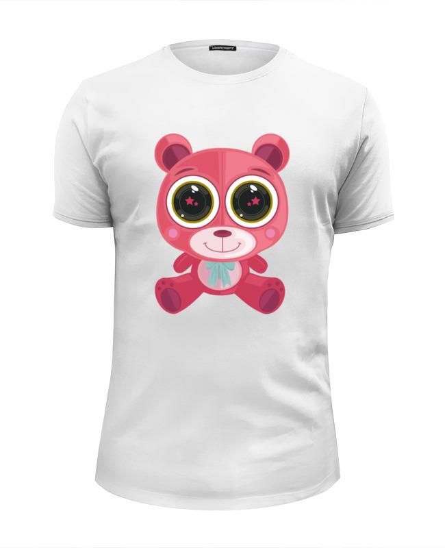 Printio Розовый мишка (bear) футболка wearcraft premium slim fit printio белый мишка