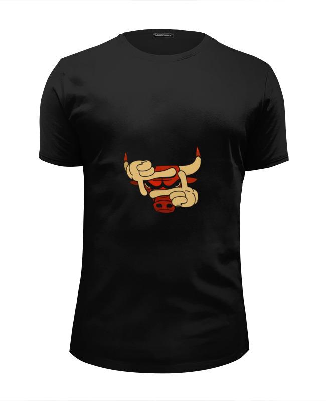 Футболка Wearcraft Premium Slim Fit Printio Бык эмблема футболка wearcraft premium slim fit printio черный бык