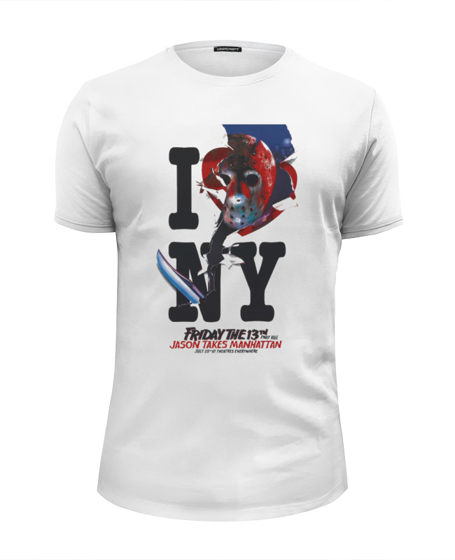 Футболка Wearcraft Premium Slim Fit Printio Friday the 13th / i love ny футболка wearcraft premium slim fit printio i love ny