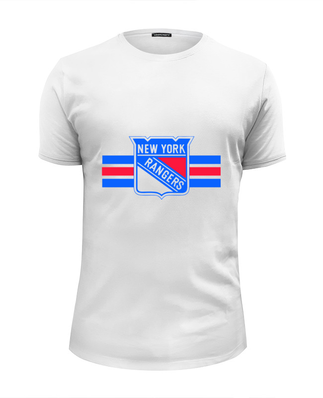 Футболка Wearcraft Premium Slim Fit Printio New york rangers