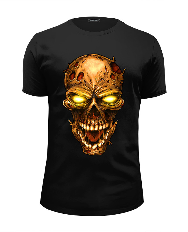 Printio Zombie skull футболка wearcraft premium slim fit printio зверополис