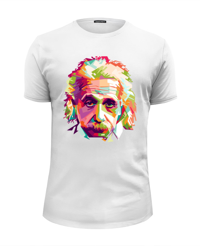 Футболка Wearcraft Premium Slim Fit Printio Альберт эйнштейн (albert einstein) худи print bar albert einstein